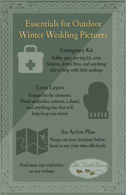 How to Prep for Stunning Outdoor Winter Wedding Pics