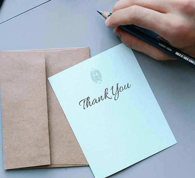 thank you note stationary